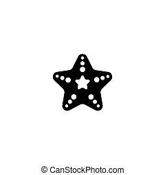 tengeri csillag, ikon, háttér, elszigetelt, fehér