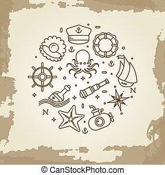 tengeri, ikonok, tengeri, híg, tenger, tengeri, egyenes