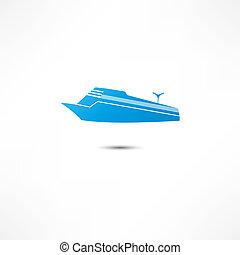 tengeri, személyszállító hajó, ikon