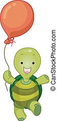 tengeri teknős, balloon, kabala