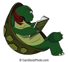 tengeri teknős, karikatúra, ábra