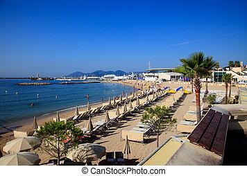 tengerpart, cannes, franciaország