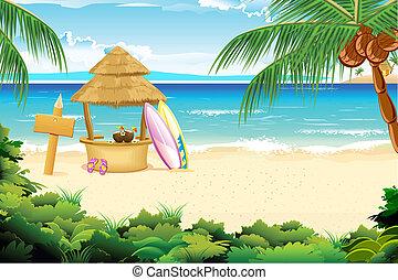 tengerpart, csendes