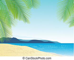 tengerpart, háttér