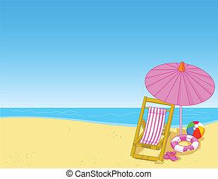 tengerpart, nyár