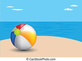 tengerpart., strandlabda