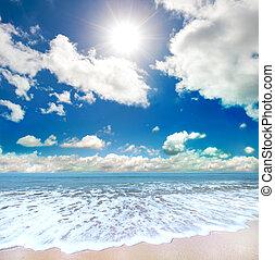 tengerpart, summertime idő