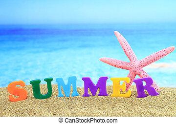 tengerpart, summertime., ?summer?, szó