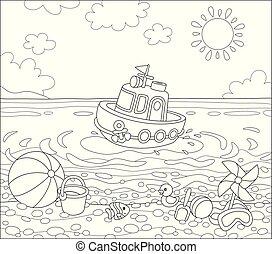 tengerpart, tenger, apró