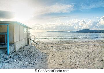 tengerpart, tengerpart, bár, fehér