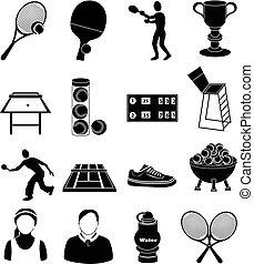 tenisz, állhatatos, ikonok