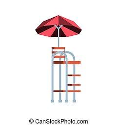 tenisz, bástya, játékvezető, esernyő, szék