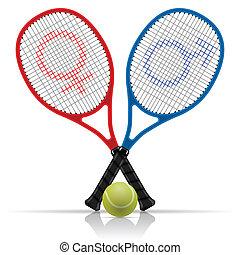teniszlabda, ütős labdajáték