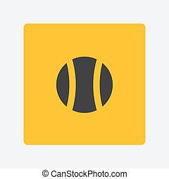 tenysny, labda, ikon