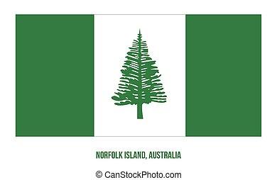terület, fehér, australia., háttér., sziget, ábra, lobogó, vektor, norfolk