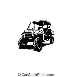 terep-, jel, ihlet, autó