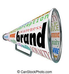 termék, bélyegez lojalitás, hirdetés, hangszóró, tudatosság, épít