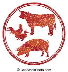 termék, hús, aláír