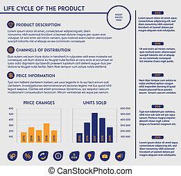 termékek, élet, -, sablon, biciklizik