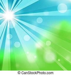 természetes, elvont, zöld háttér