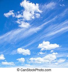 természetes, háttér, kék ég