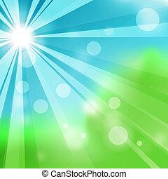 természetes, háttér, zöld absztrahál