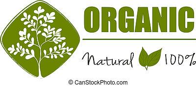 természetes, szerves, címke