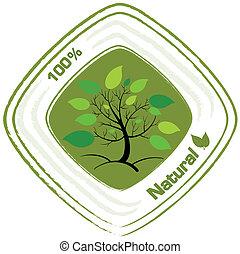 természetes, tervezés, címke