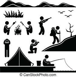természetjárás, tábor, dzsungel, kempingezés, utazás