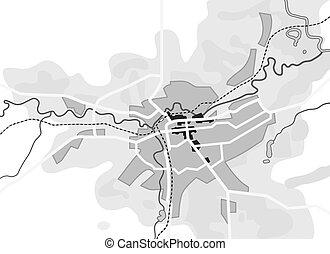 természetjáró, idegenvezető, városi, city., útvonal, navigáció, földrajzi, location., diagram, térkép