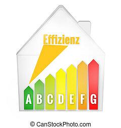 termelékenység, energia, színezett, épület