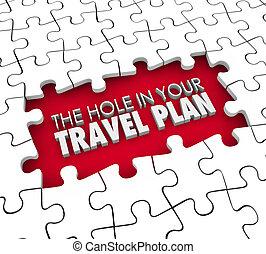 terv, elveszett, -e, kilyukaszt, utazás, beír, menekülés, itiner, hézag, hotel