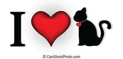 tervezés, ön, szeret, macska