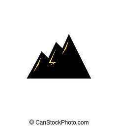 tervezés, black hegy, ikon