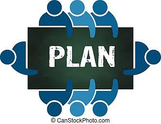tervezés, csoport, emberek