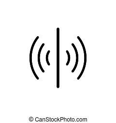 tervezés, egyszerű, ikon, jelkép, érzékelő