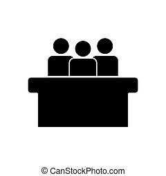 tervezés, egyszerű, jurors, jelkép, ikon
