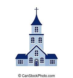 tervezés, elszigetelt, vallás, vektor, templom