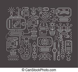 tervezés, elvont, graphic rajzóra