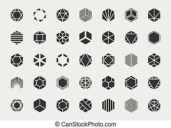 tervezés, grafikus, set., jel, template., elem, vektor