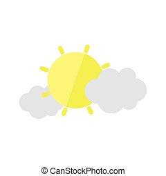 tervezés, ikon, ökológia, nap, időjárás, elhomályosul