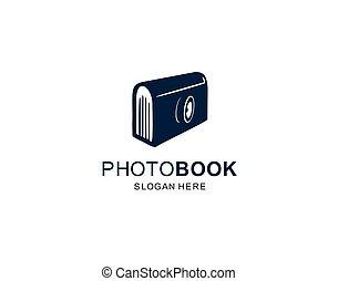 tervezés, jelkép, könyv, jel, ikon, fényképezőgép, sablon