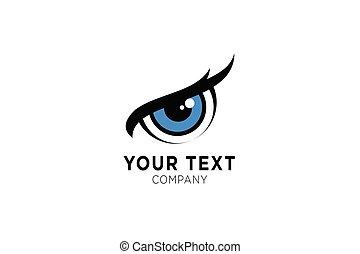 tervezés, jelkép, template., szem, jel, ikon, ihlet
