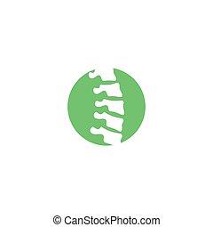 tervezés, kreatív, jel, gerinc kezelése, fogalom, sablon