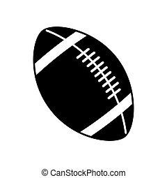 tervezés, labda, amerikai futball
