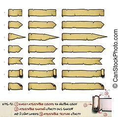 tervezés, nagyság, nappal, -, papirusz, hét, három, horizontális