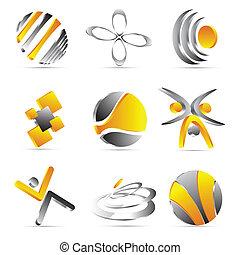 tervezés, sárga, ügy icons
