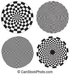 tervezés, sakktábla, dartboard