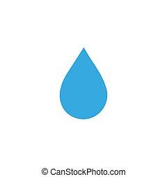 tervezés, víz, ikon, vektor, jelkép