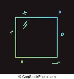 tervezés, vektor, derékszögben, ikon